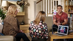 Sheila Canning, Piper Willis, Aaron Brennan in Neighbours Episode 7968