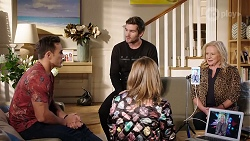 Aaron Brennan, Ned Willis, Piper Willis, Sheila Canning in Neighbours Episode 7968