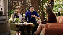 Terese Willis, Leo Tanaka, Chloe Brennan in Neighbours Episode 7970