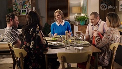 Shane Rebecchi, Dipi Rebecchi, Alice Wells, Toadie Rebecchi, Sonya Mitchell in Neighbours Episode 7972