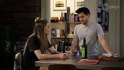Chloe Brennan, David Tanaka in Neighbours Episode 7972