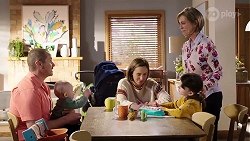 Toadie Rebecchi, Hugo Somers, Sonya Mitchell, Alice Wells, Nell Rebecchi in Neighbours Episode 7972