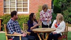 Shane Rebecchi, Dipi Rebecchi, Alice Wells, Sheila Canning in Neighbours Episode 7973