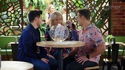 David Tanaka, Sheila Canning, Aaron Brennan in Neighbours Episode 7973