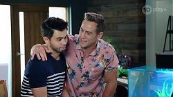 David Tanaka, Aaron Brennan in Neighbours Episode 7973