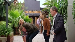 Sheila Canning, Gary Canning, Amy Williams, Paul Robinson in Neighbours Episode 7973