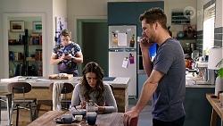 Aaron Brennan, Elly Conway, Mark Brennan in Neighbours Episode 7975