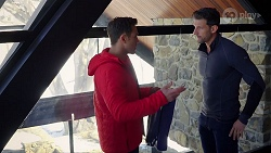 Aaron Brennan, Pierce Greyson in Neighbours Episode 7975