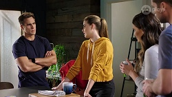 Aaron Brennan, Chloe Brennan, Elly Conway, Mark Brennan in Neighbours Episode 7976