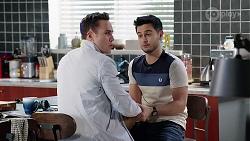 Aaron Brennan, David Tanaka in Neighbours Episode 7979
