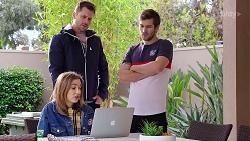 Mark Brennan, Ned Willis, Piper Willis in Neighbours Episode 7979
