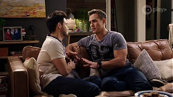 David Tanaka, Aaron Brennan in Neighbours Episode 7982