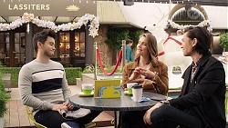 David Tanaka, Amy Williams, Leo Tanaka in Neighbours Episode 7982