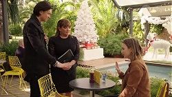 Leo Tanaka, Terese Willis, Amy Williams in Neighbours Episode 7982