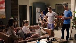 Elly Conway, Chloe Brennan, David Tanaka, Aaron Brennan, Mark Brennan in Neighbours Episode 7984