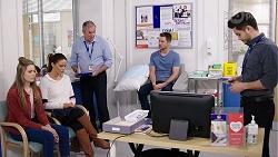 Chloe Brennan, Elly Conway, Karl Kennedy, Mark Brennan, David Tanaka in Neighbours Episode 7984