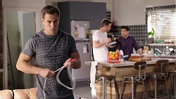 Aaron Brennan, Mark Brennan, David Tanaka in Neighbours Episode 7988