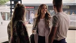 Chloe Brennan, Elly Conway, Mark Brennan in Neighbours Episode 7988