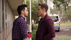 David Tanaka, Aaron Brennan in Neighbours Episode 7988