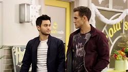 David Tanaka, Aaron Brennan in Neighbours Episode 7989