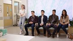 Chloe Brennan, Aaron Brennan, David Tanaka, Mark Brennan, Elly Conway in Neighbours Episode 7989