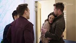 David Tanaka, Aaron Brennan, Elly Conway, Mark Brennan in Neighbours Episode 7989