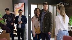 Aaron Brennan, David Tanaka, Elly Conway, Mark Brennan, Chloe Brennan in Neighbours Episode 7989