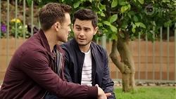 Aaron Brennan, David Tanaka in Neighbours Episode 7989