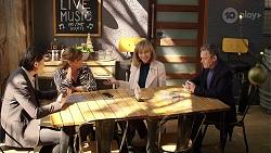 Leo Tanaka, Terese Willis, Jane Harris, Paul Robinson in Neighbours Episode 7992