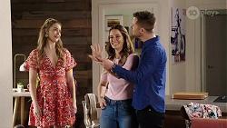 Chloe Brennan, Elly Conway, Mark Brennan in Neighbours Episode 7993