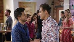 David Tanaka, Susan Kennedy, Dipi Rebecchi, Aaron Brennan, Chloe Brennan in Neighbours Episode 7993