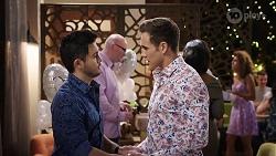 David Tanaka, Aaron Brennan in Neighbours Episode 7993
