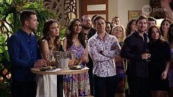 Mark Brennan, Elly Conway, Dipi Rebecchi, Aaron Brennan, Ned Willis, Bea Nilsson in Neighbours Episode 7993