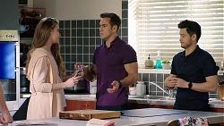 Chloe Brennan, Aaron Brennan, David Tanaka in Neighbours Episode 7994