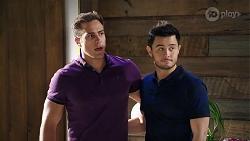Aaron Brennan, David Tanaka in Neighbours Episode 7994