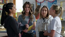 Yashvi Rebecchi, Elly Conway, Piper Willis, Xanthe Canning in Neighbours Episode 7996