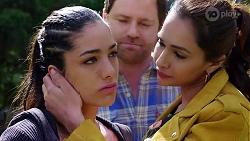 Yashvi Rebecchi, Shane Rebecchi, Dipi Rebecchi in Neighbours Episode 7996
