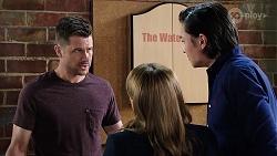 Mark Brennan, Terese Willis, Leo Tanaka in Neighbours Episode 7997