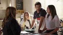 Terese Willis, Piper Willis, Ned Parker, Bea Nilsson in Neighbours Episode 7997