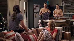 Elly Conway, Mark Brennan, Aaron Brennan, Chloe Brennan in Neighbours Episode 7999