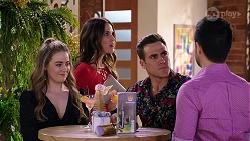 Chloe Brennan, Elly Conway, Aaron Brennan, David Tanaka in Neighbours Episode 7999