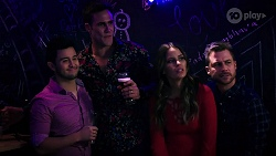 David Tanaka, Aaron Brennan, Elly Conway, Mark Brennan in Neighbours Episode 7999