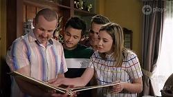 Toadie Rebecchi, David Tanaka, Aaron Brennan, Piper Willis in Neighbours Episode 8000