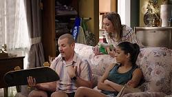 Toadie Rebecchi, Piper Willis, Yashvi Rebecchi in Neighbours Episode 8000