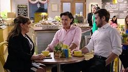 Terese Willis, Leo Tanaka, Ned Willis in Neighbours Episode 8000