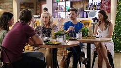 Bea Nilsson, Ned Willis, Liz Conway, Mark Brennan, Elly Conway in Neighbours Episode 8001