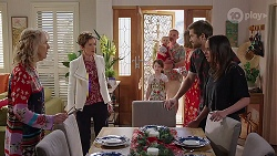 Liz Conway, Susan Kennedy, Nell Rebecchi, Hugo Somers, Toadie Rebecchi, Sonya Mitchell, Ned Willis, Bea Nilsson in Neighbours Episode 8002