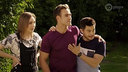 Piper Willis, Aaron Brennan, David Tanaka in Neighbours Episode 8003