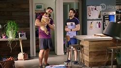 Aaron Brennan, Regina Grundy, David Tanaka in Neighbours Episode 8003