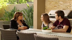 Terese Willis, Piper Willis, Ned Parker in Neighbours Episode 8004